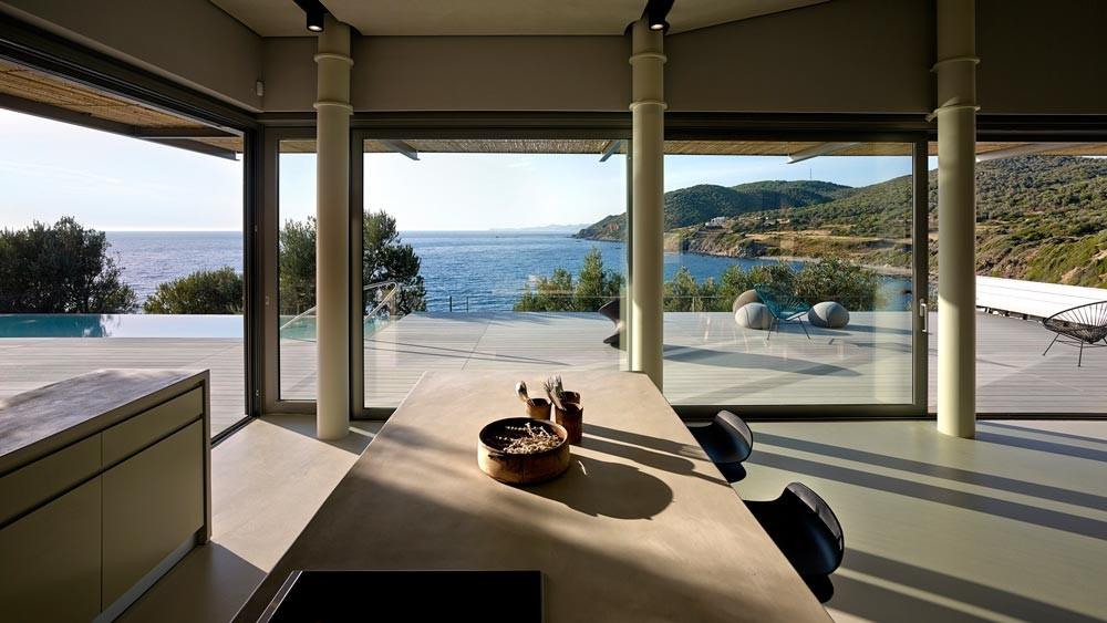 Modern Greek Architecture notre ntam' - lesvos residencesz-level architecture - the