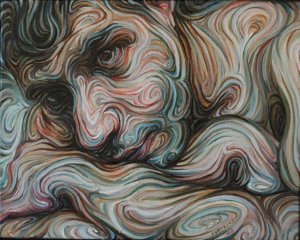 Line Art And Painting : The liquid portraits of nikos gyftakis greek foundation