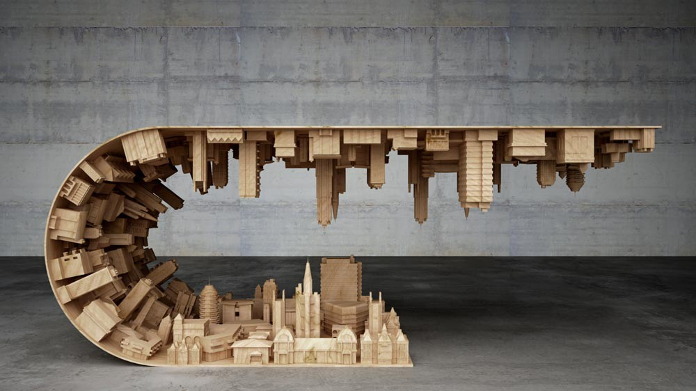 Wave City Table By Stelios Mousarris The Greek Foundation
