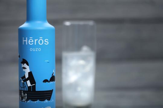Hērōs ouzo designed by S & Team