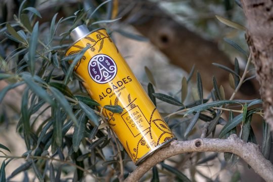 Aloades extra virgin olive oil designed by Cursor Design Studio