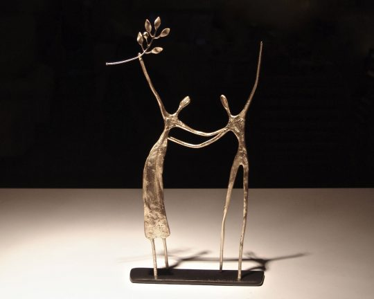 "Metal sculptures ""fragments of a dream"" by Anna Andreadi"