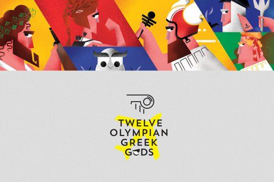 12 Olympian Greek Gods by Cursor Design studio
