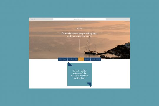 Website design for Agios Nikolaos Crete by AG Design