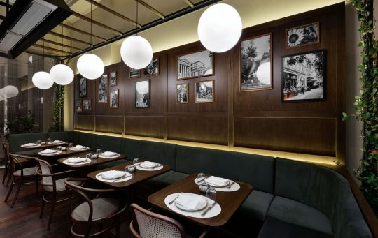 Downtown Athens Ilios restaurant designed by Urban Soul Project