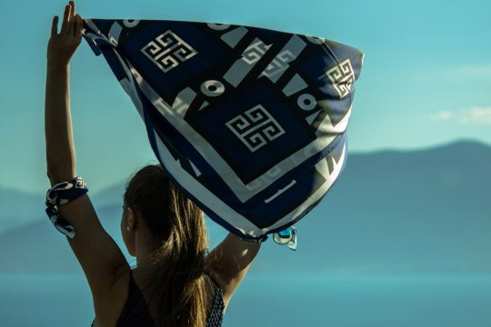 MagnaDi silk scarves handmade in Greece