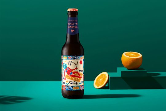 "Santorini microbrewery ""Malt 'n Marvel"" by AG Design Agency"