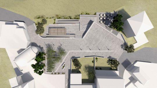 Regeneration of Christ public Square of Poros Island by Ixnos architects (2nd Prize)