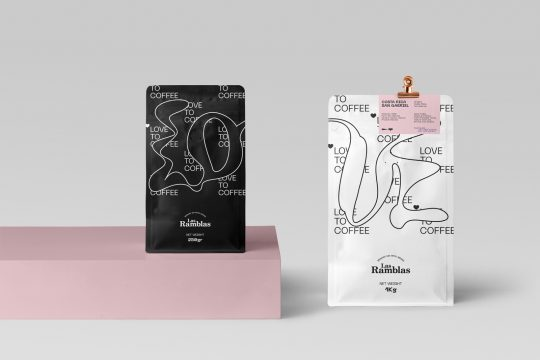 'Love to coffee' packaging and visual identity by Cursor Design Studio
