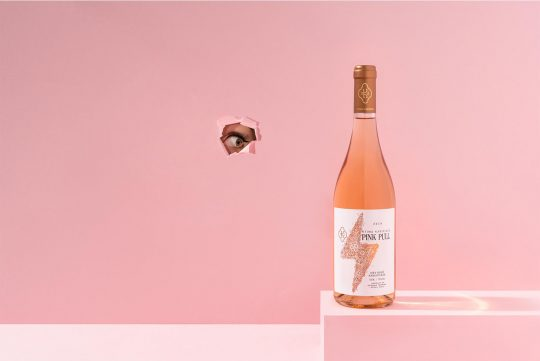 'Pink Pull' Karipidis rosé wine designed by Luminous Design Group
