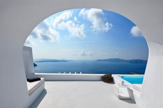 Villa Charissa in Santorini by Elly Alexiou