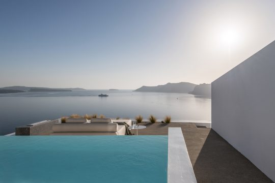 Saint Hotel in Oia, Santorini island by Kapsimalis Architects