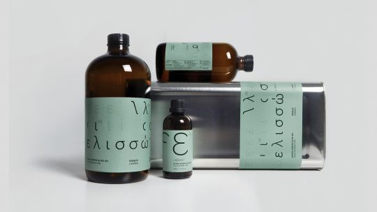 Elisso olive oil by Linescape Design