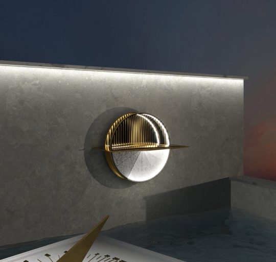 Reverse Sunclock Multifunctional Wall Lamp by ADD Architecture Studio
