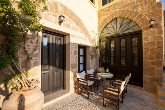12th century medieval house restoration in Old Town, Rhodes by Petros Tsoukalas