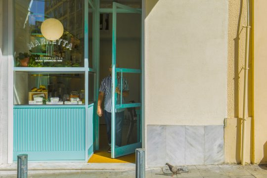 Marketta Athens: a new Mediterranean bistro in an iconic Athenian modernistic building by SOUTH architecture