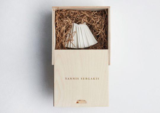 Commemorative porcelain 'fustanella' 1821-2021 by Yannis Sergakis