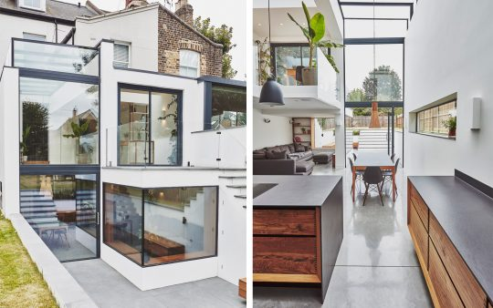 Glass House in London by kaap studio architects