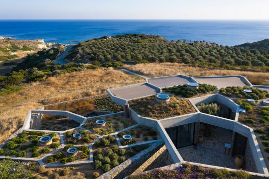 The Hourglass Corral in Milos by DECA Architecture