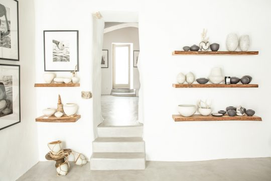 Todd Marshard ceramics workshop based in Paros island