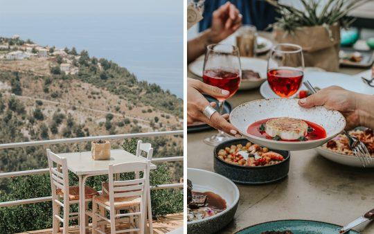 'Rachi' restaurant in Exanthia village, Lefkada island