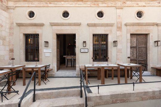 AKRES restaurant in Lindos, Rhodes by Minas Kosmidis Architects