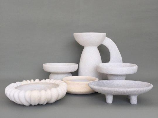 'Kalodromo' Naxian marble sculptures handcrafted by Tom von Kaenel